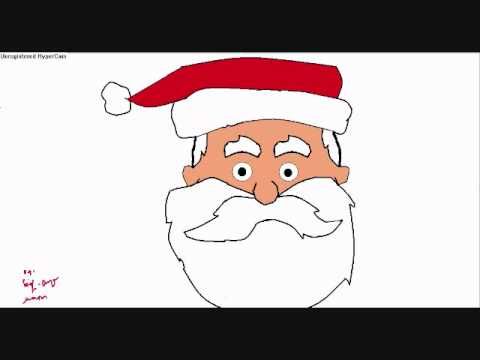 Drawn santa ms paint I drewed Unsubscribe That Ms