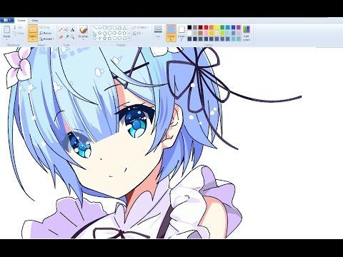 Drawn santa ms paint Anime Girl 【 Draw Claus