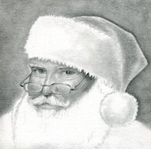Drawn santa pencil Steps Pencil com/how Santa Drawing
