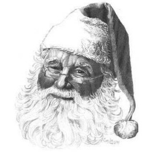 Drawn santa pencil Polyvore Drawing thing? Claus Gallery