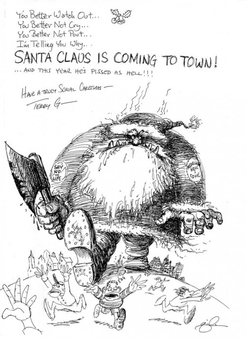 Drawn santa poor A posted of Terry looking