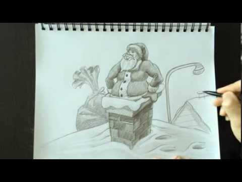 Drawn santa realistic Père  2014 Santa /
