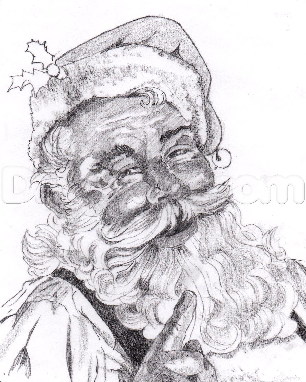Drawn santa realistic A Claus to Realistic Santa
