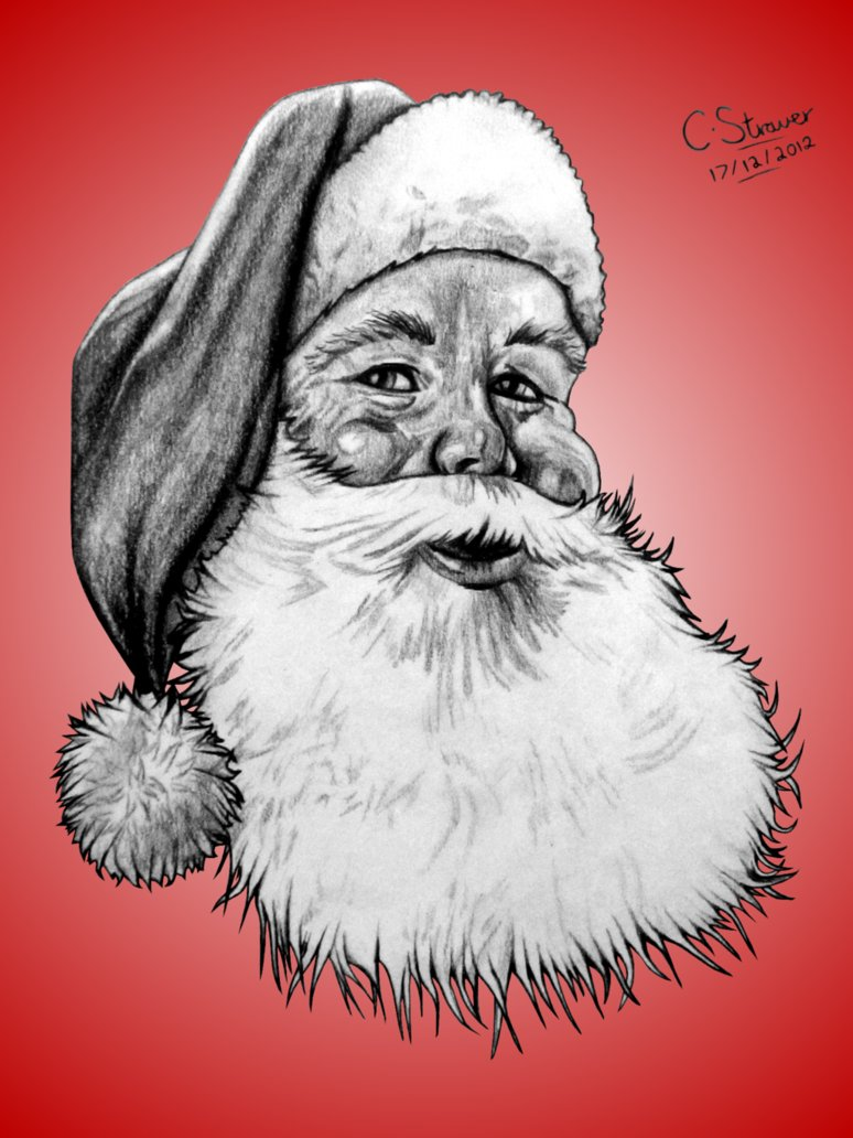 Drawn santa realistic Realistic Santa Claus Drawing Realistic