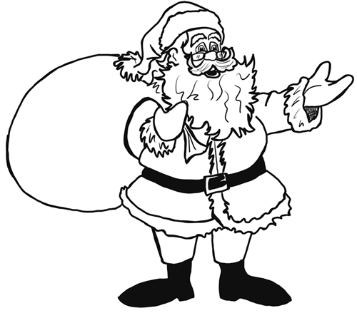 Drawn santa santa claus Santa Archives Draw Step by