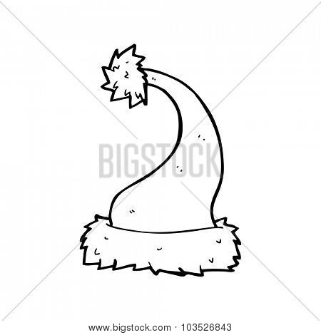 Drawn santa simple Clipart and Simple black collection