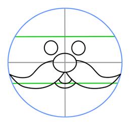 Drawn santa simple Head face simple How Cartoon