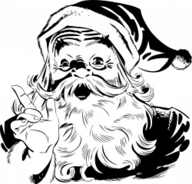 Drawn sanya Hand Santa santa drawn hand