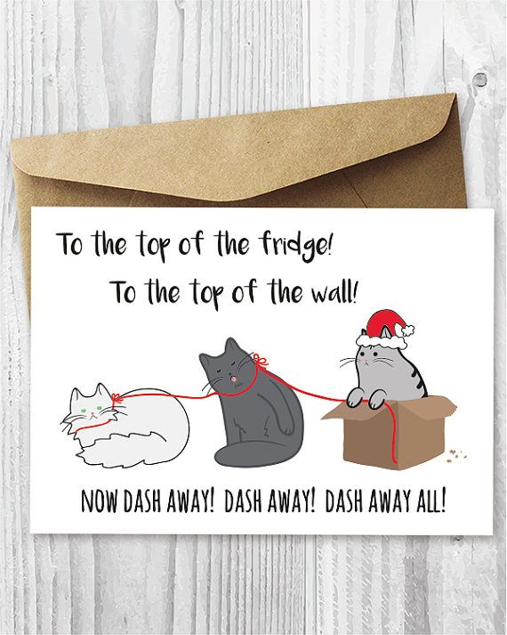 Drawn puppy fun christmas Cards Pinterest Cat Funny Cat