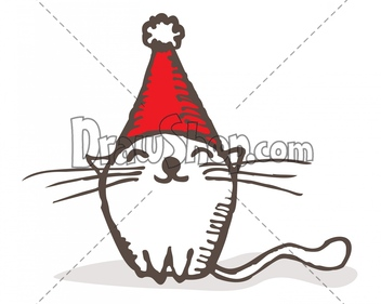 Drawn santa cat Designs file after Personal right