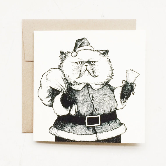 Drawn santa cat For drawn Perfect lovers design