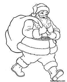Drawn sanya child printable Pages Kids Claus Christmas »