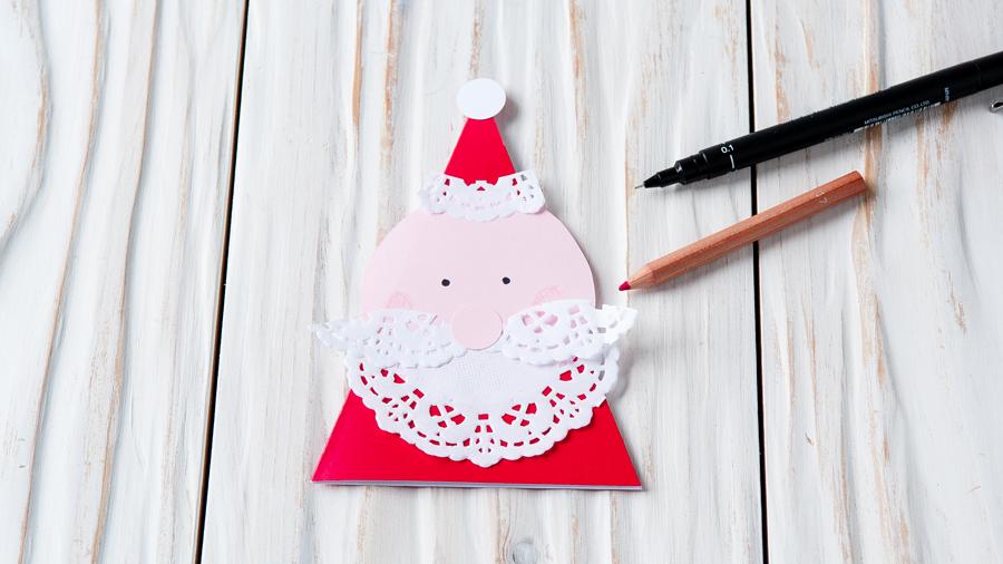 Drawn santa christmas card Ideas onto Santa card Santa