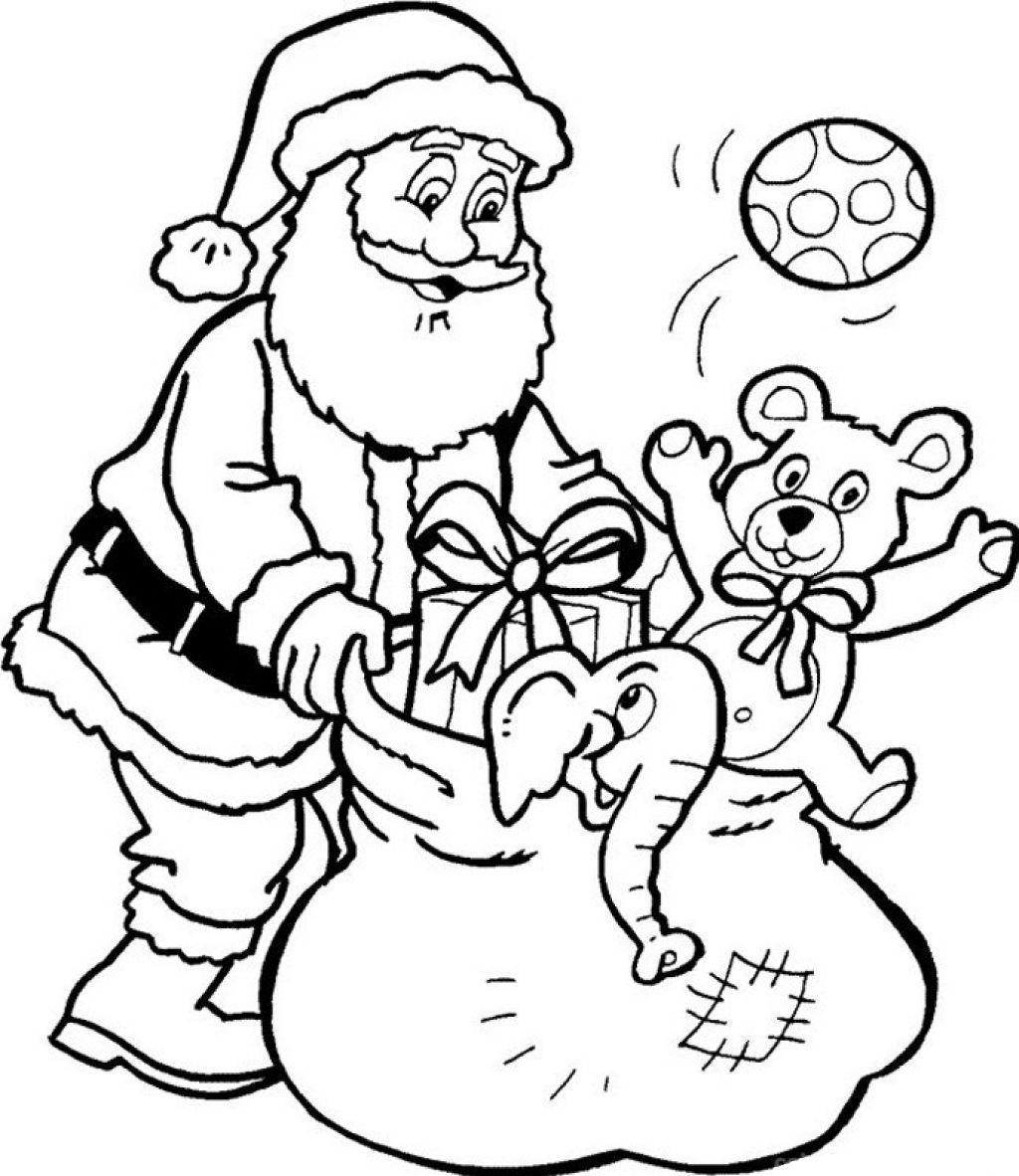 Drawn santa christmas coloring page Santa Coloring Claus Archives page