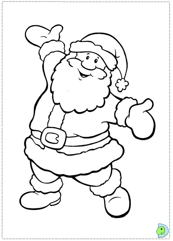 Drawn santa christmas coloring page Pages Claus Of Pages gobel