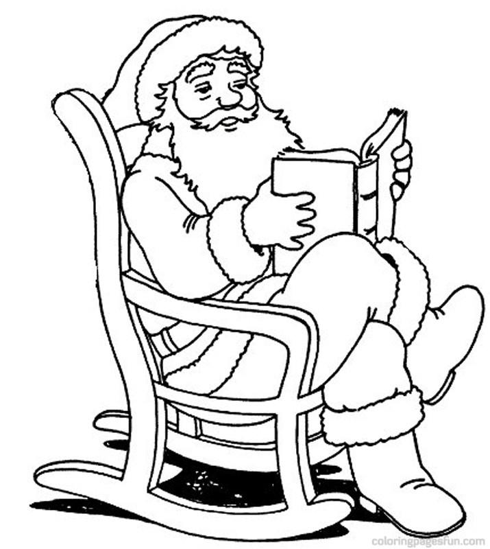 Drawn santa christmas coloring page Christmas Santa twas Pin how