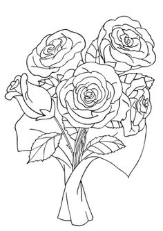 Drawn sanya coloring book File printable : flowers_coloring_page