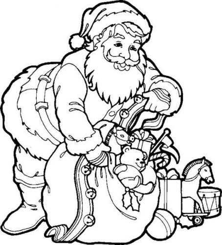 Drawn sanya coloring book Clause Santa Pages for Kids