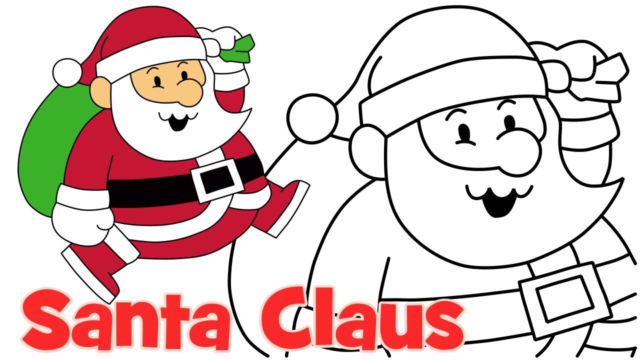 Sanya clipart easy Christmas How kids easy step