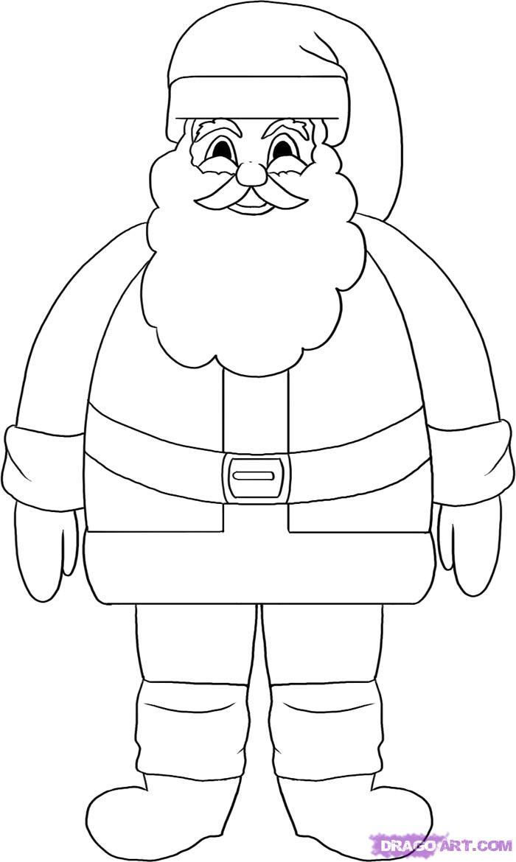 Drawn santa sketch Or Step draw Claus Draw