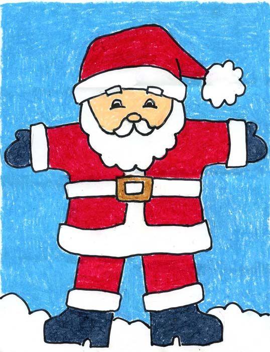 Drawn sanya easy Draw to Draw #howtodraw #santaclaus