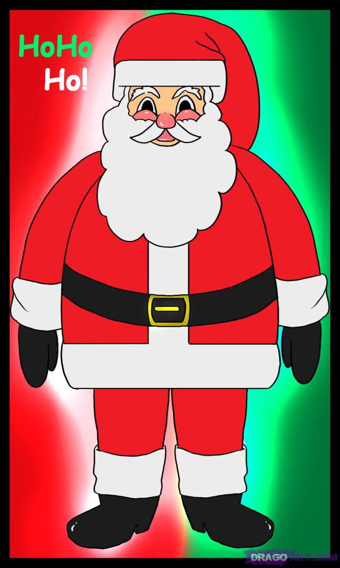 Drawn santa santa claus Santa Santa Saint or saint