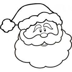 Drawn sanya face Sweet Santa on patterns pinterest