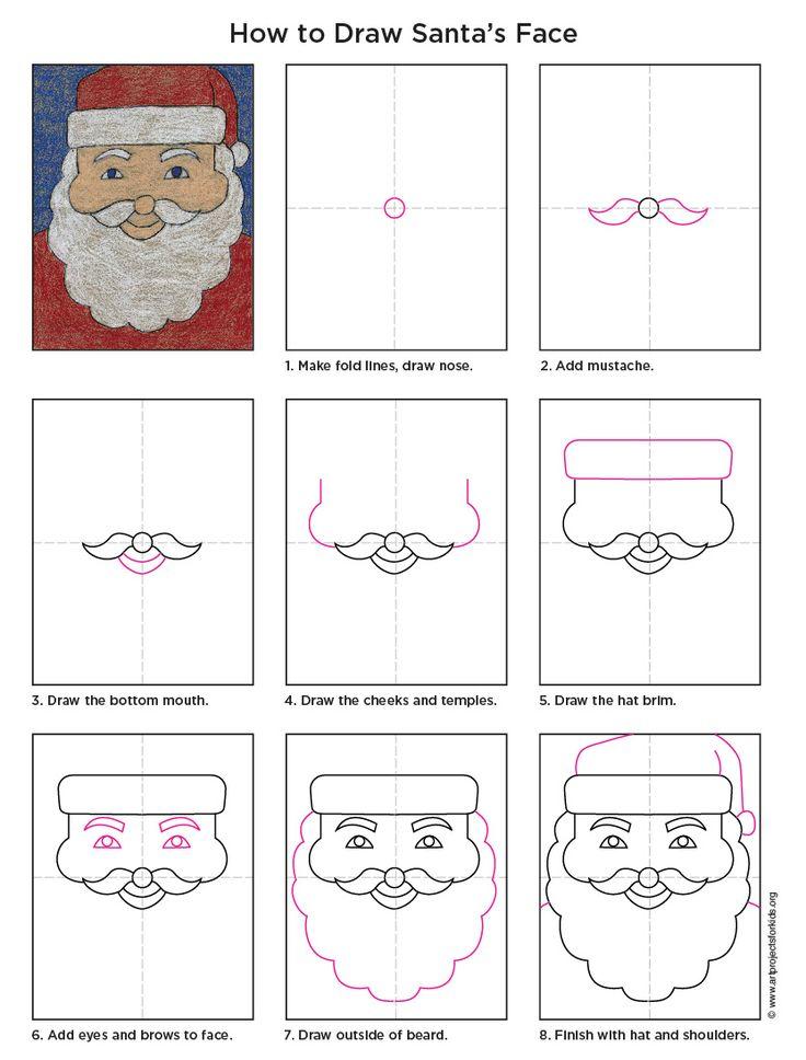 Drawn sanya face PDF was draw Santa santa
