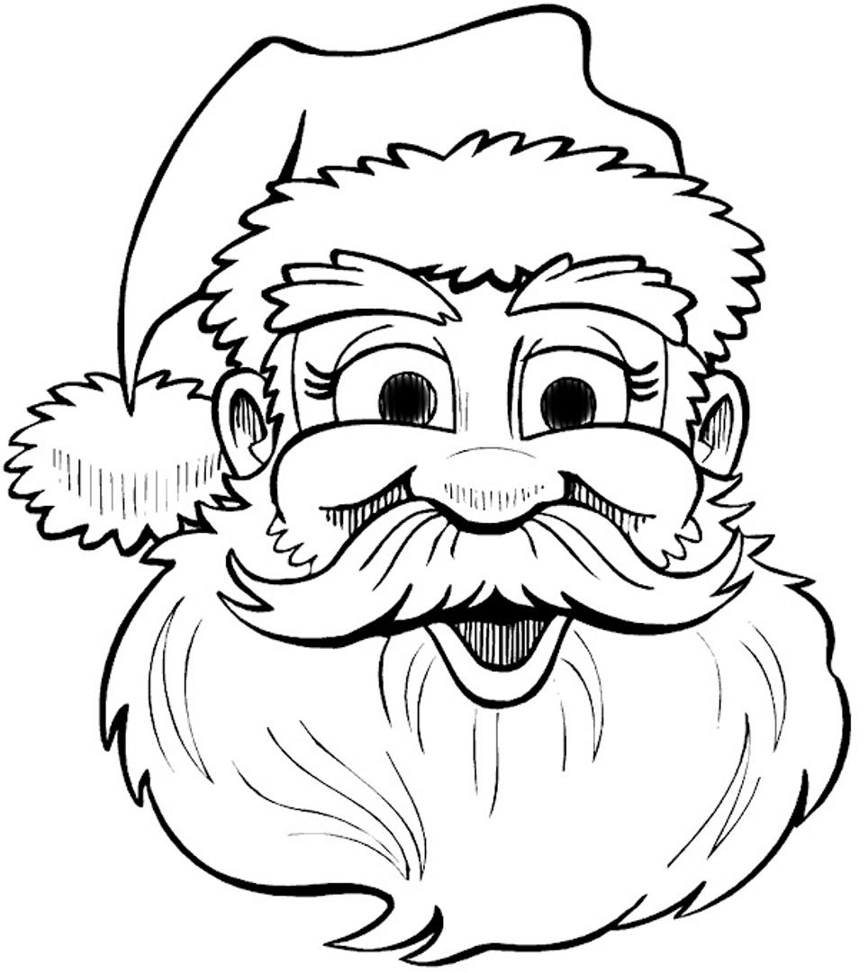 Drawn sanya face By Face  patterns Santa