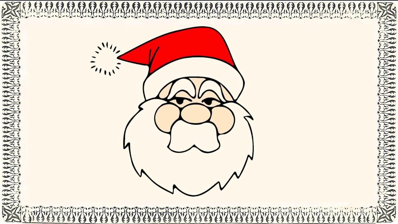 Drawn sanya face Drawing Face Easy Santa for