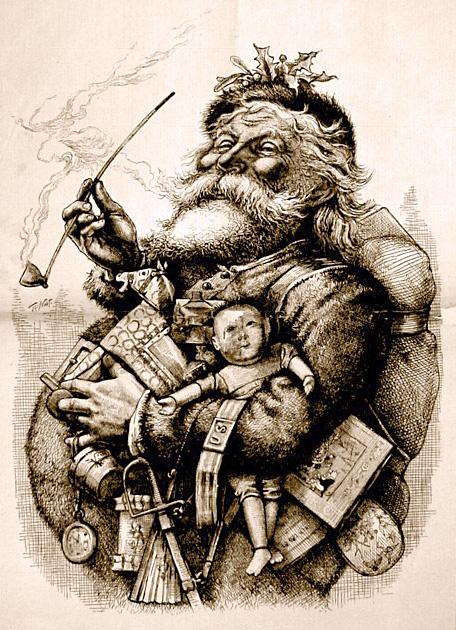 Drawn santa father christmas  Wikipedia Santa Claus