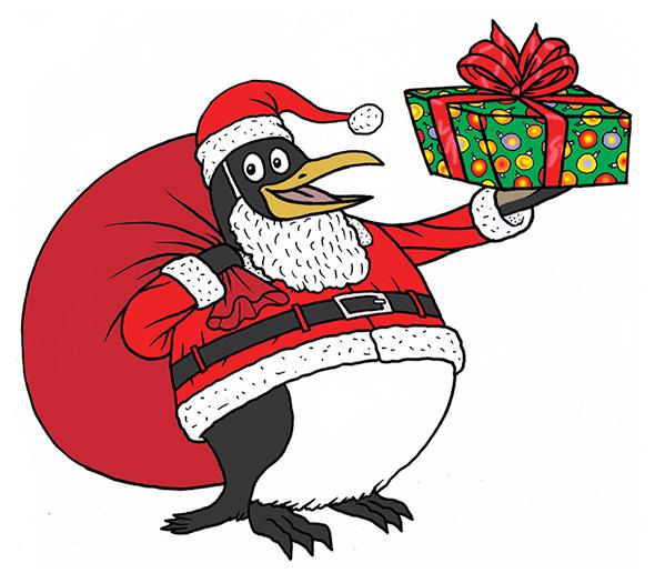 Drawn santa father christmas The 131210_HOL_SantaMakeover Penguin Santa an