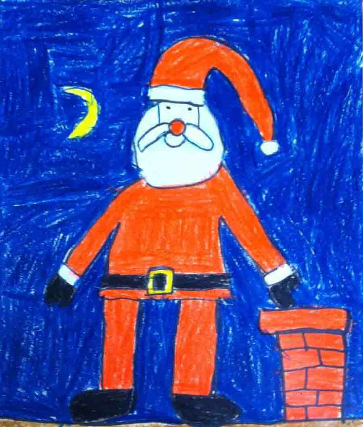 Drawn santa for kid santa Claus Pinterest Projects for ideas