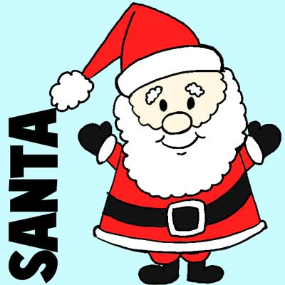 Sanya clipart easy How Here drawing Pinterest santa