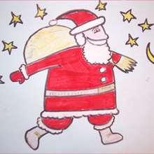 Drawn santa for kid santa Step DRAW draw Claus sleigh