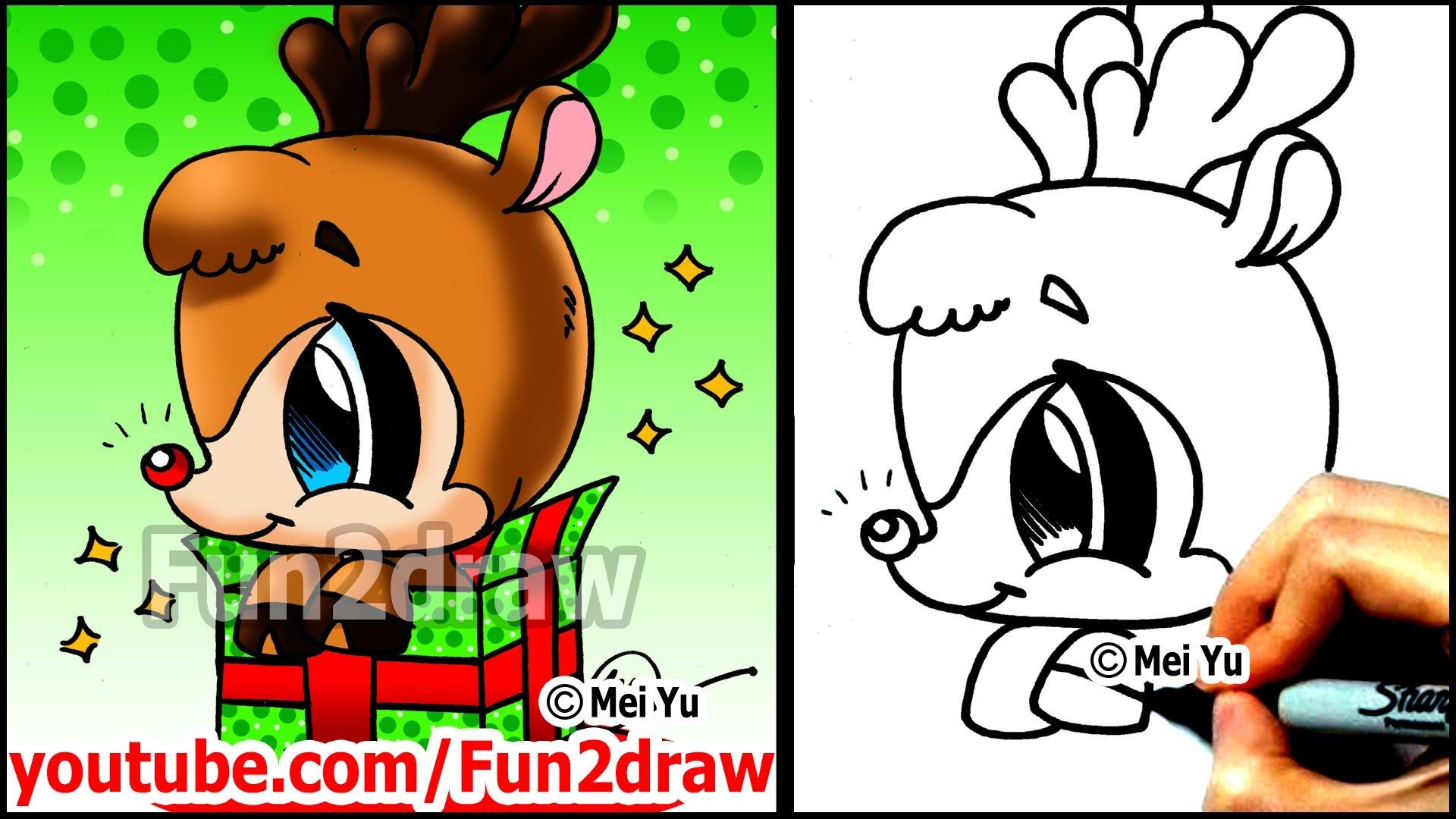 Drawn santa fun2draw How a Gift Draw Winter