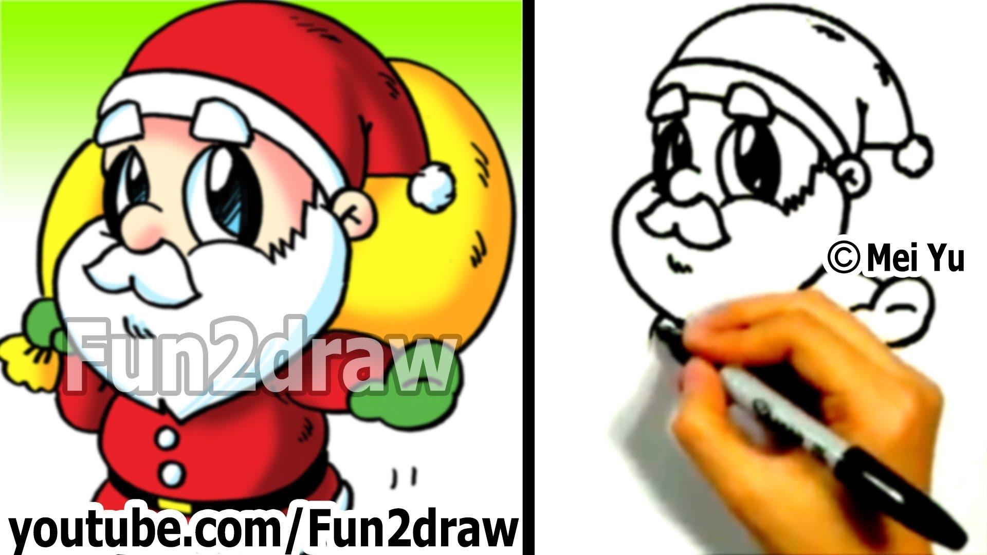 Drawn reindeer mei yu Draw Fun2draw Santa Fun Fun2draw