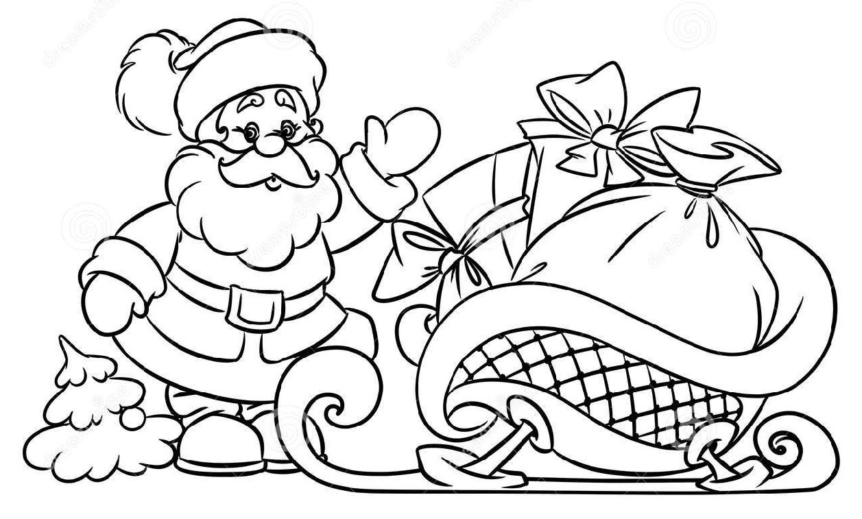 Drawn santa his sleigh Santa Claus Gifts to How