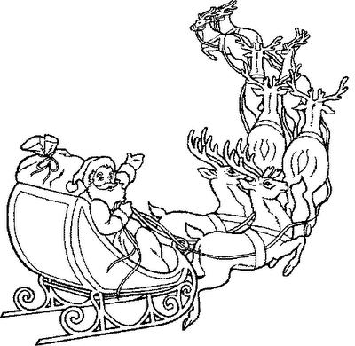 Drawn santa his sleigh Claus Claus Santa Santa Drawing