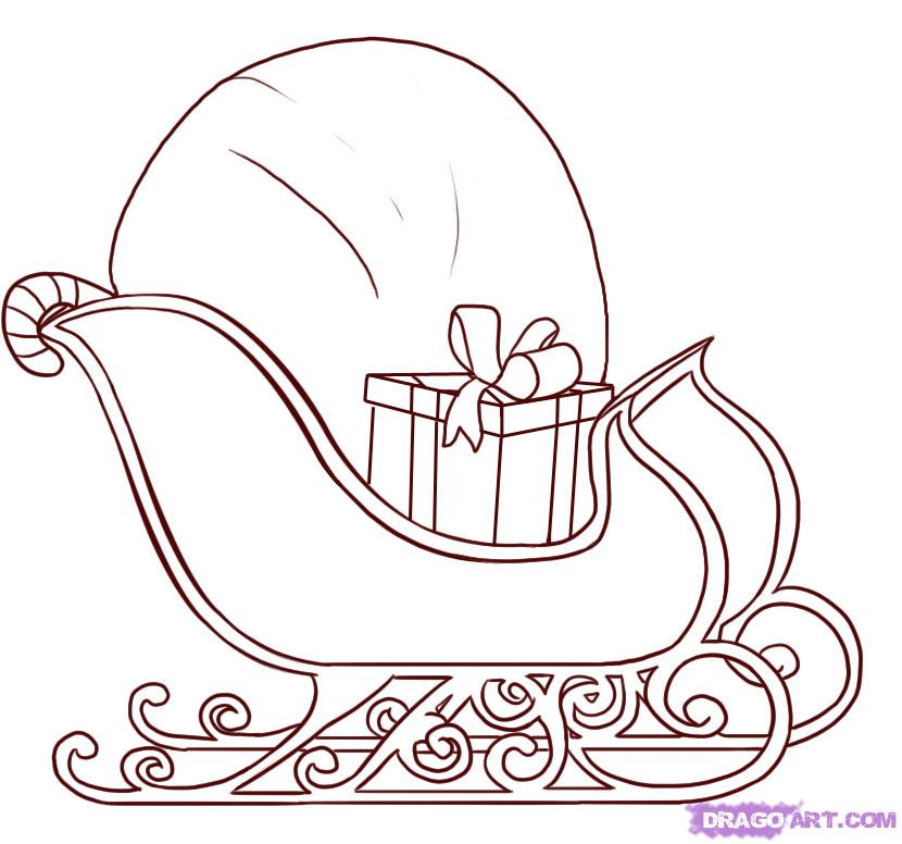 Drawn reindeer sleigh FREE by Seasonal Stuff draw