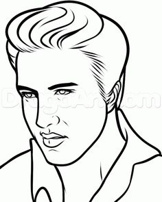 Drawn sanya line drawing How 8 step step elvis