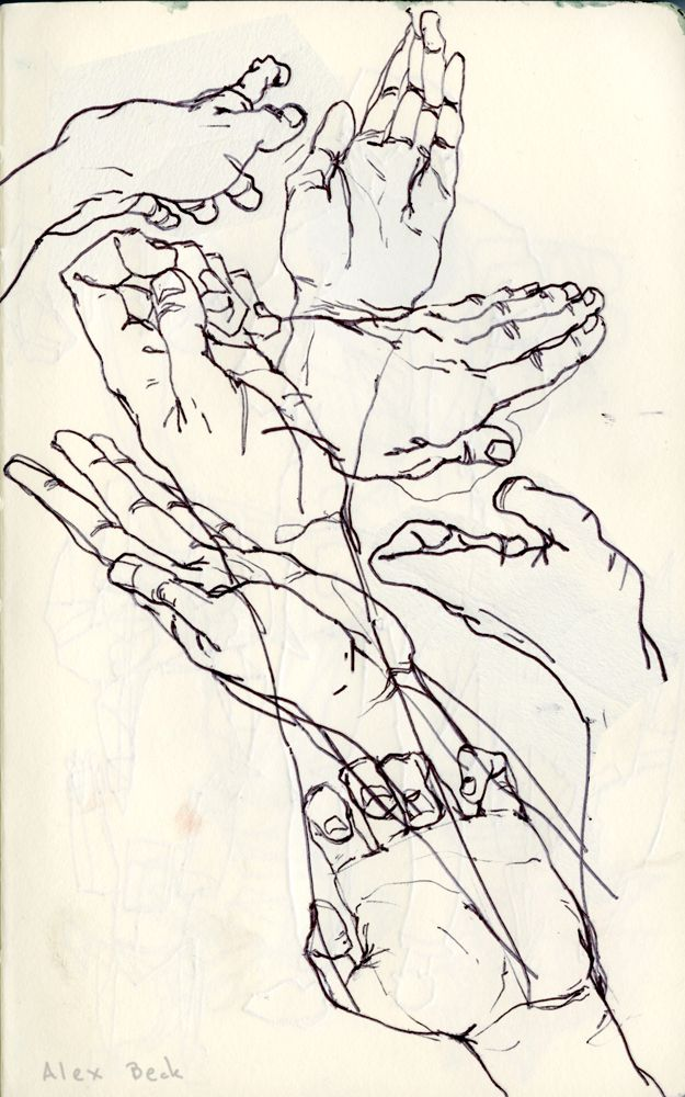 Drawn sanya line drawing And palm/hand/shoulder to how Pin