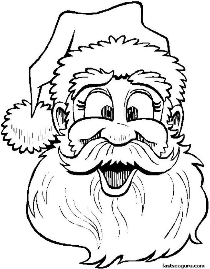 Drawn santa merry christmas Pages Pages page Claus For