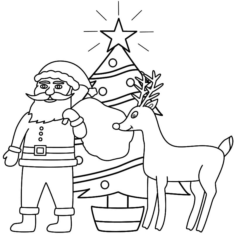 Drawn santa merry christmas Rudolph (Christmas) and Coloring and