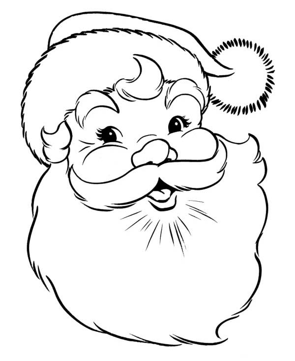 Drawn santa merry christmas Coloring Coloring Christmas Pages Happy