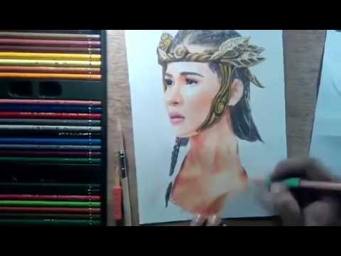 Drawn sanya pencil Pencil Colored Drawing Danaya Sanya