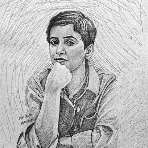 Drawn sanya pencil Graphite #manojithsketches and pencil videos