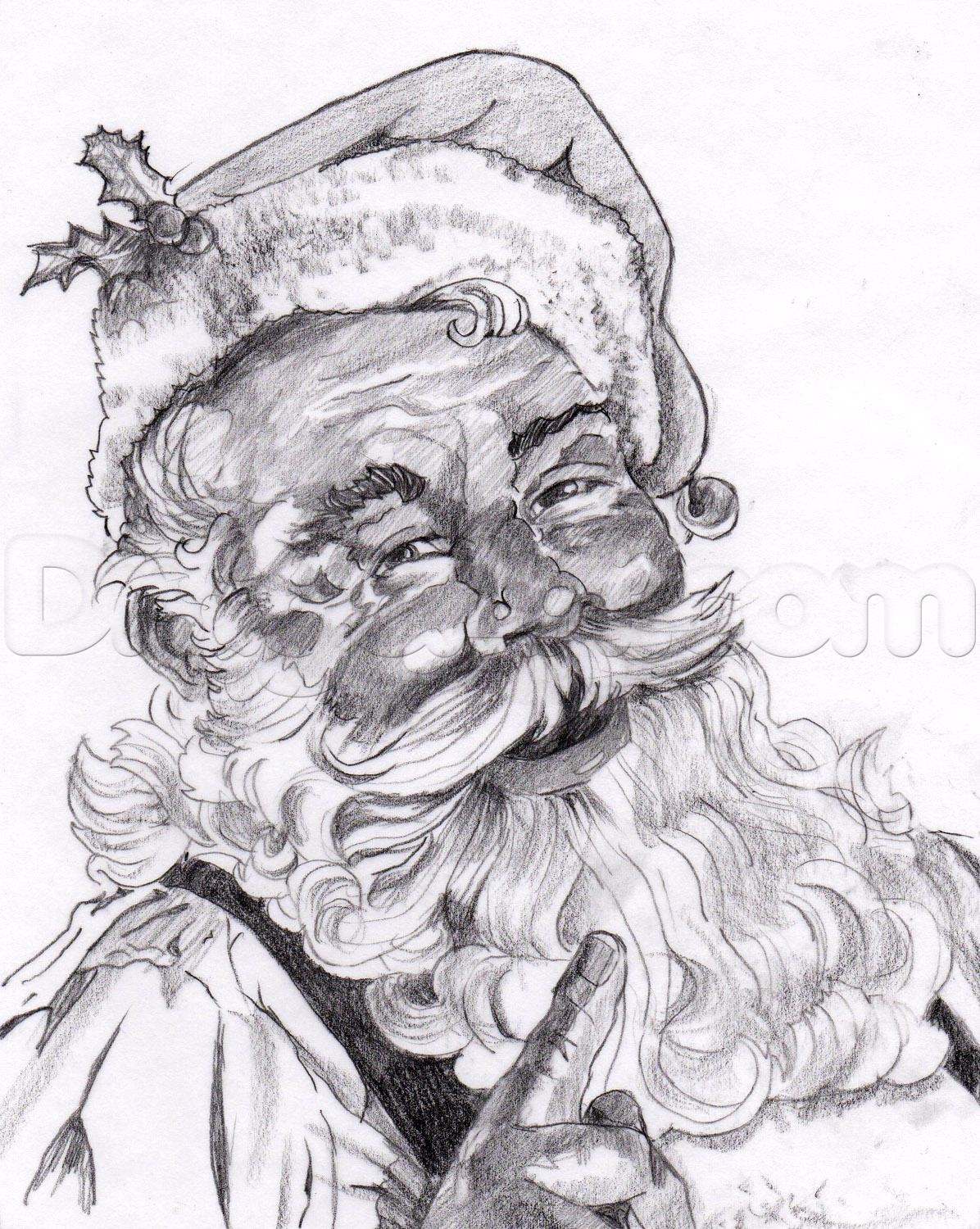 Drawn santa santa claus A draw santa  santa