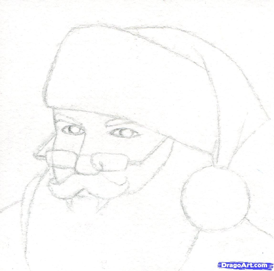 Drawn santa realistic By santa Realistic  3
