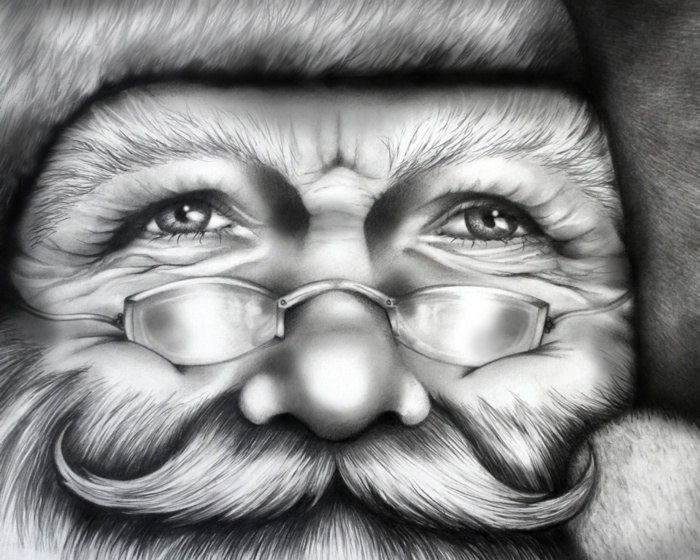 Drawn santa poor Coming Town (Mat